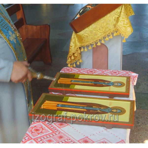 Освящение иконы Анна Кашинская в храме