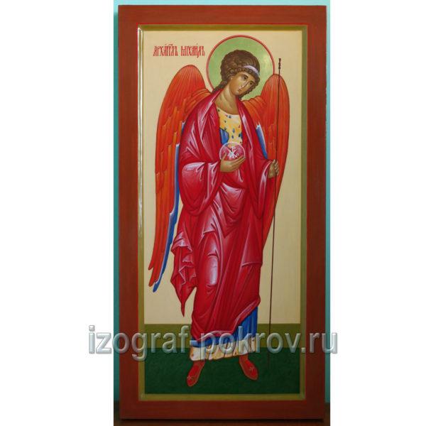 Мерная икона ручной работы Архангел Михаил (Архистратига)