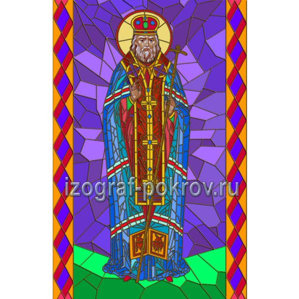 Лука святитель макет витража на окна для храма