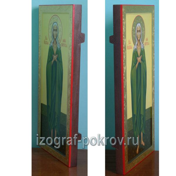 Мерная икона Мария Египетская вид сбоку