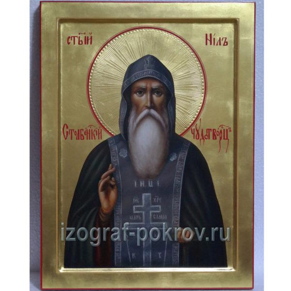 Живописная икона ручной работы Нил Столбенский