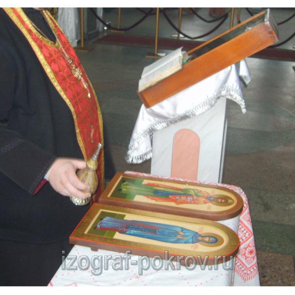 Освящение иконы Ксении (Евсевии) и Матфея Вознесенского