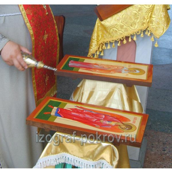 Освящение иконы Архангела Михаила