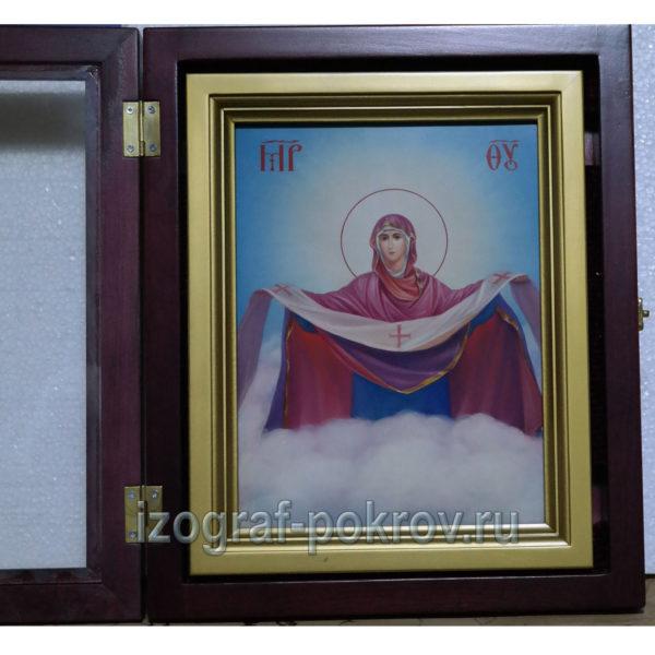 Икона Покров Пресвятой Богородицы в академическом стиле