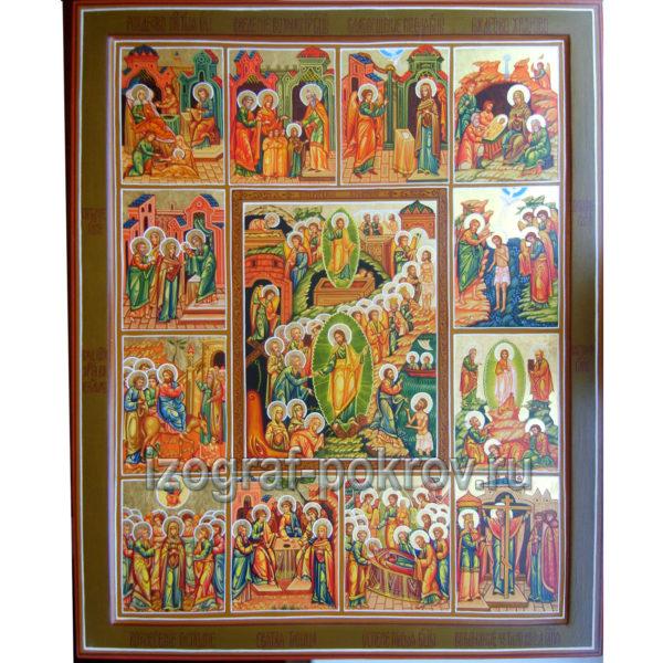 Икона Пасха и двунадесятые праздники