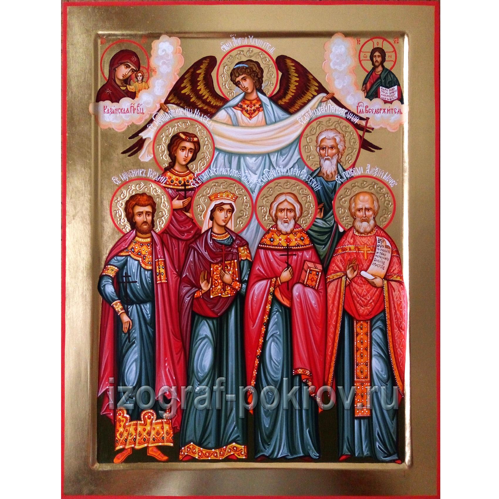 Семейная икона 6 покровителей