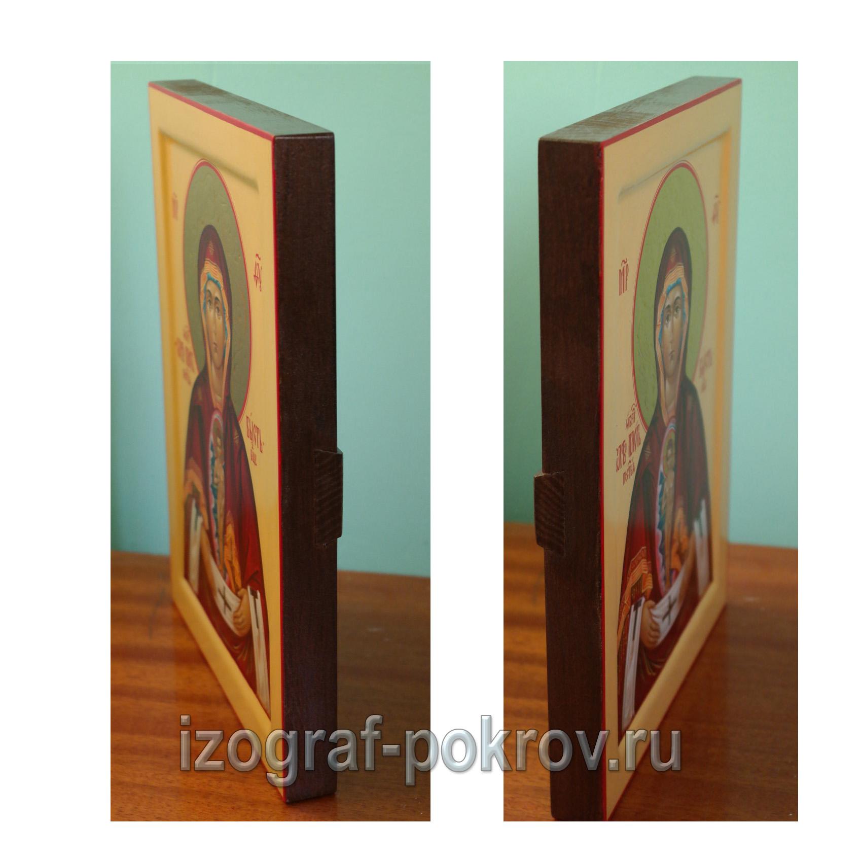 Икона Слово плоть бысть Албазинская Богородица вид сбоку