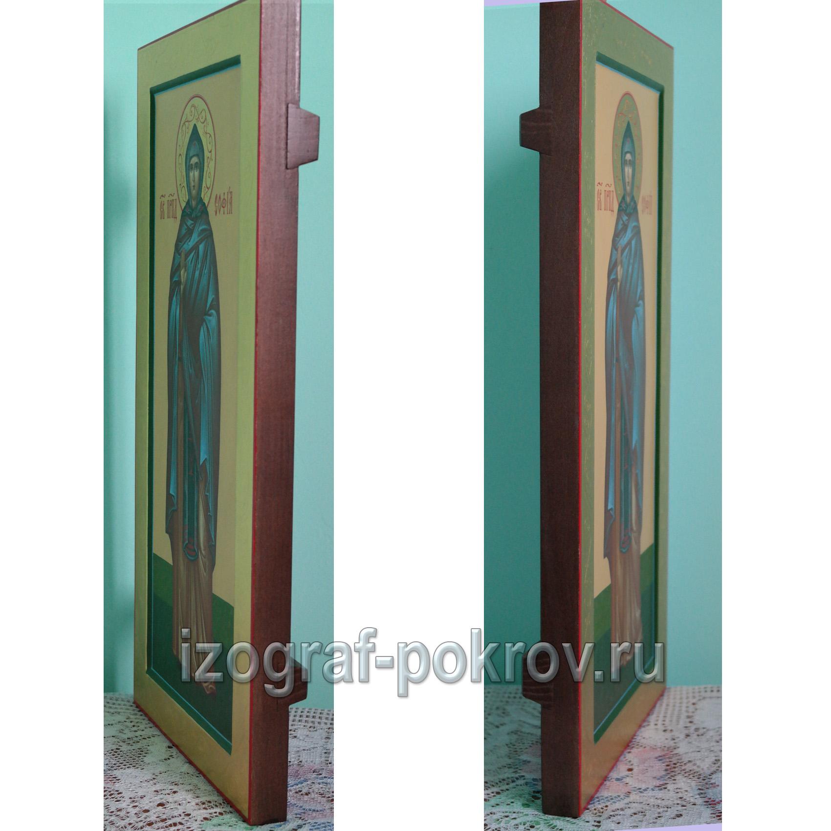 Мерная икона св. София Суздальская вид боку
