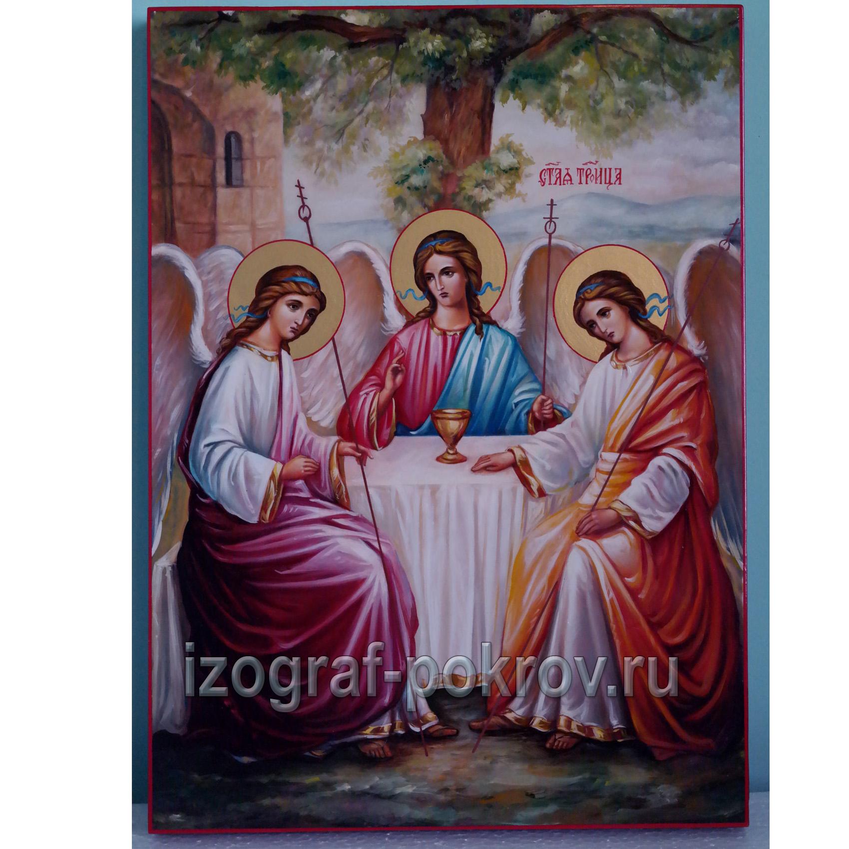 Живописная икона ручной работы Троица
