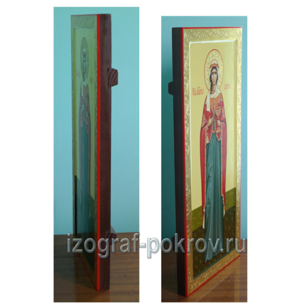 Мерная икона Варвара Илиопольская вид сбоку