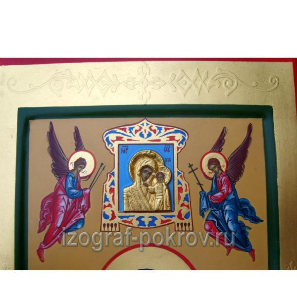 Фрагмент оформления мерной иконы с Богородицей