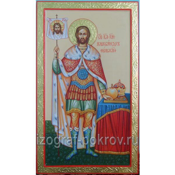 Икона Александр Невский благоверный князь вариант 1