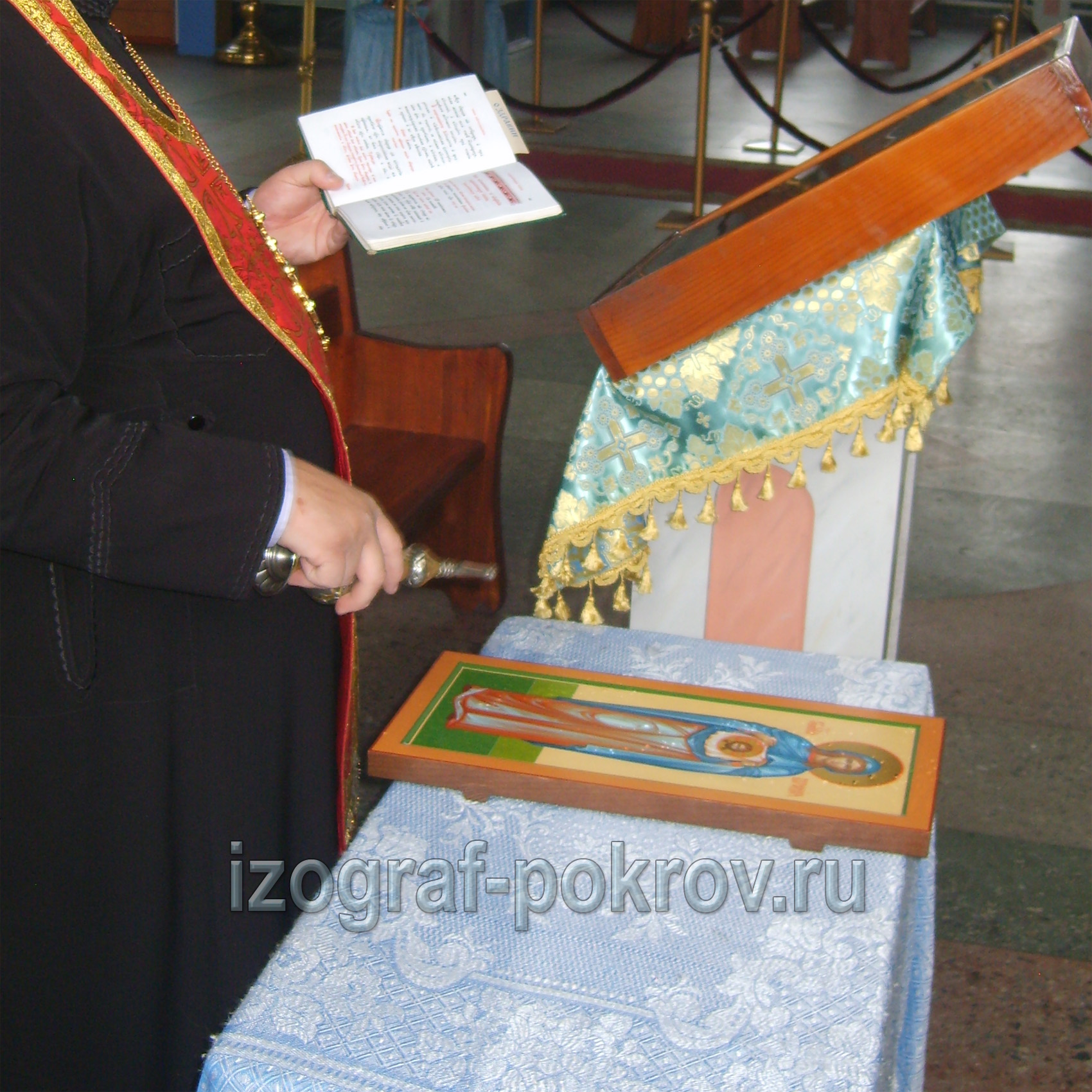 Готовая икона св. Вероники освящение в храме Покрова Пресвятой Богородицы