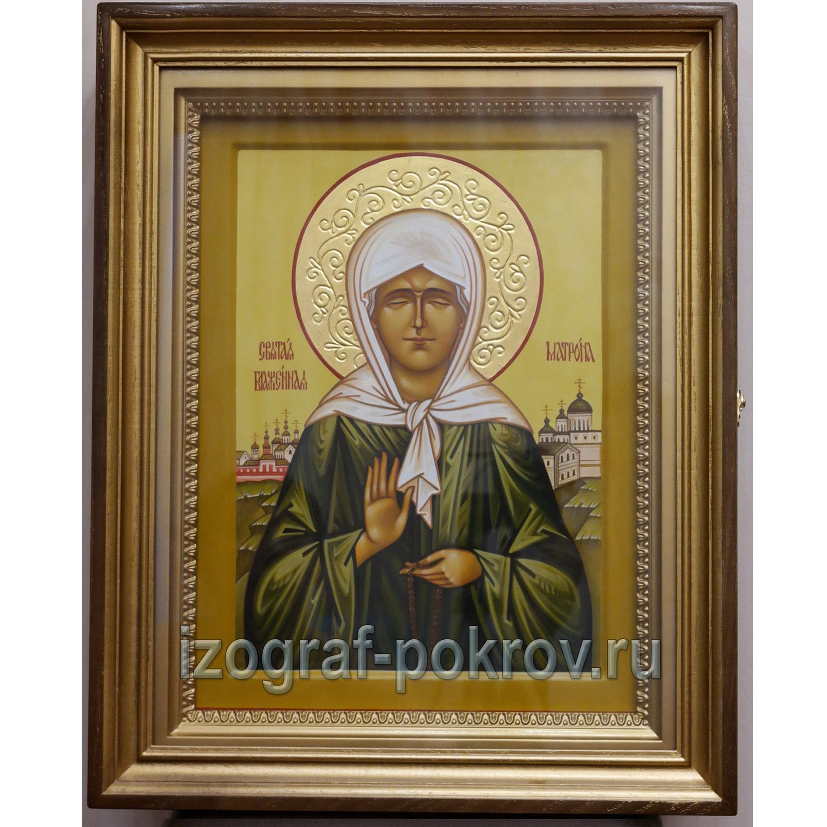 Св. блаженная Матрона Московская икона заказ в иконописной мастерской Покров при храме Покрова Пресвятой Богородицы