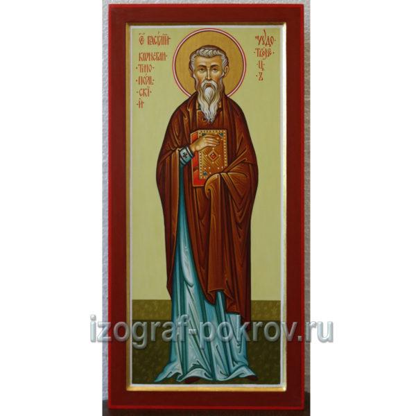Рукописная икона Василий Константинопольский