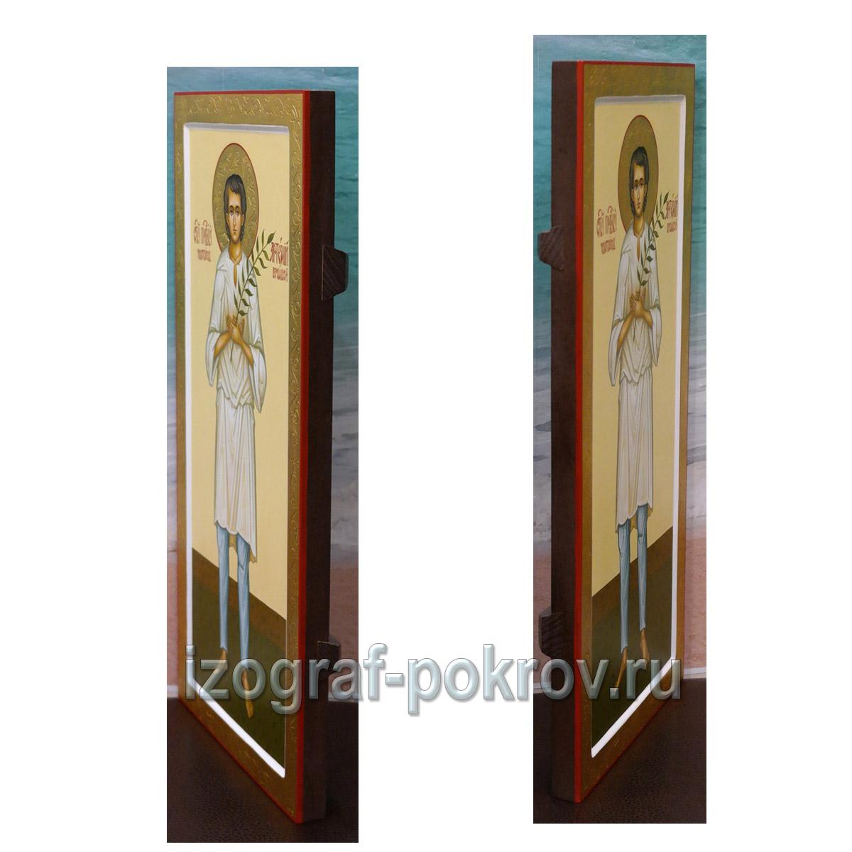 Артемий Веркольский вид иконы сбоку