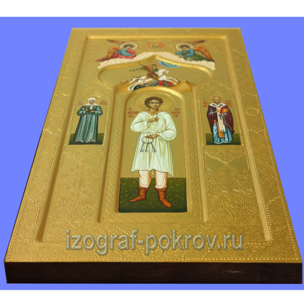 Мерная икона мученика Василия Мангазейского. Иконописная мастерская Покров при Свято-Покровском храме